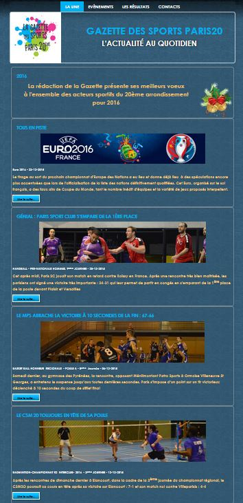 assocoWeb - Gazette des Sports Paris 20